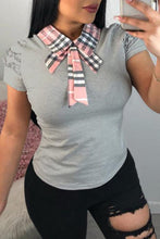 Casual Bow-Tie T-shirt