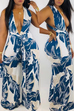 Printed Backless Jumpsuit