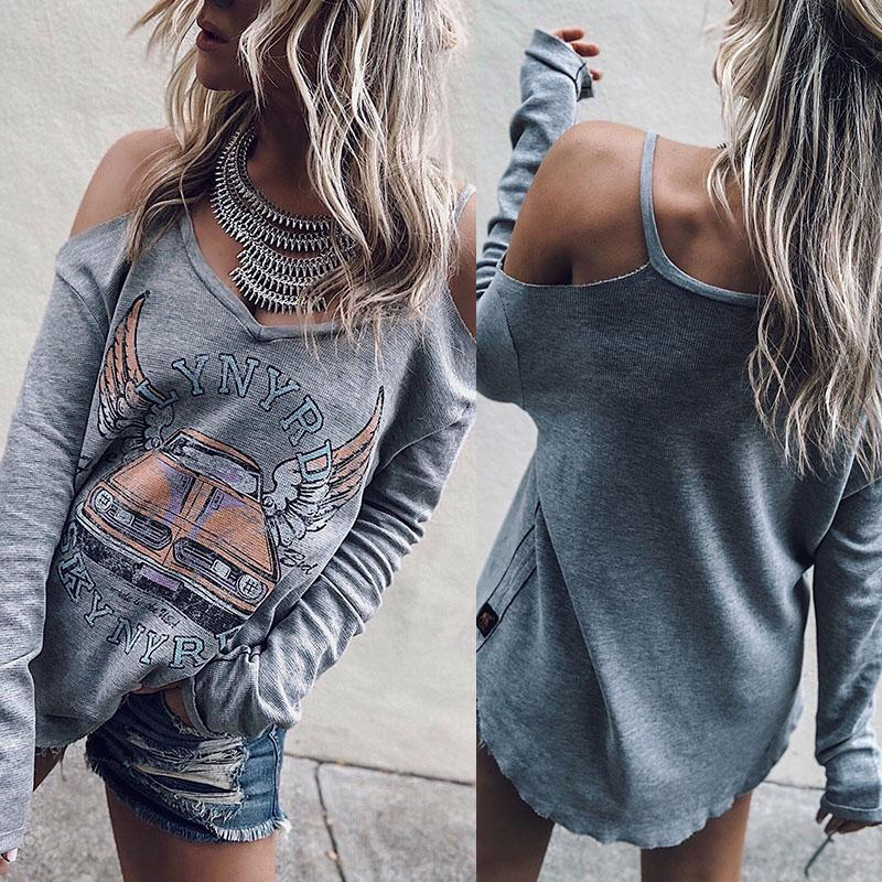 Spaghetti Strap  Letters T-Shirts Gray m