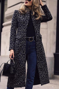 Fashion Leopard Print Long Sleeve Coat Leopard Print s