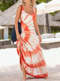 Beautiful Floral-Print Beach Vacation Stripes Sleeveless Maxi Dress S(Bust33 Waist25.9 Length59.2)
