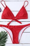 Red Halter Bikini Set Swimwear For Women red s