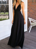 Multi-Way Plain Empire Evening Dress dark_blue s