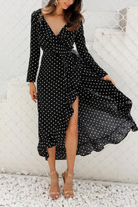 Sexy Fashion Long Sleeves Vacation Maxi Dress black s