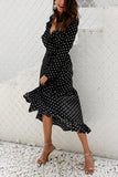 Sexy Fashion Long Sleeves Vacation Maxi Dress black l