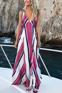 Elegant Fashion Floral Print Maxi Dress same as photo m