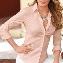 Elegant Pure Color Cardigan Long Sleeve Shirt