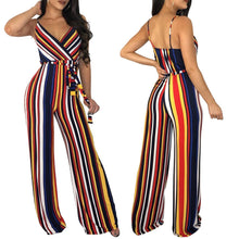 Sexy Fashion Sleeveless Stripe Jumpsuits