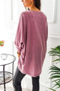 Asymmetric Neck  Snap Front  Plain Cardigans prunosus xl