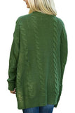 Kangaroo Pocket  Plain Basic  Cardigans green m