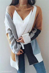 Medium And Long Color Long-Sleeved Sweater same_as_photo s