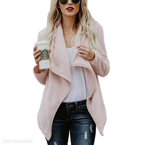 Autumn New Sweater Fashion Long-Sleeved Jacket pink l