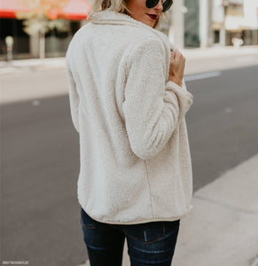 Autumn New Sweater Fashion Long-Sleeved Jacket beige l