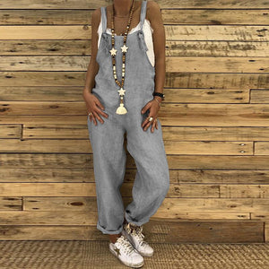 Sexy Slim Thin Jeans Wide Leg Jumpsuit dark_grey l