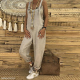 Sexy Slim Thin Jeans Wide Leg Jumpsuit gray m