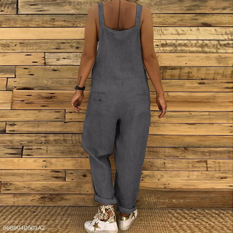 Sexy Slim Thin Jeans Wide Leg Jumpsuit dark_grey s