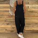 Sexy Slim Thin Jeans Wide Leg Jumpsuit black m