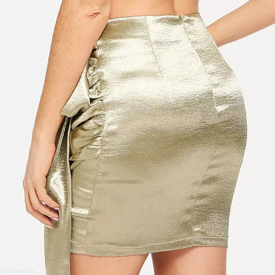 Sexy Gold Bow Tie Skirt same_as_photo xl