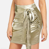 Sexy Gold Bow Tie Skirt same_as_photo l