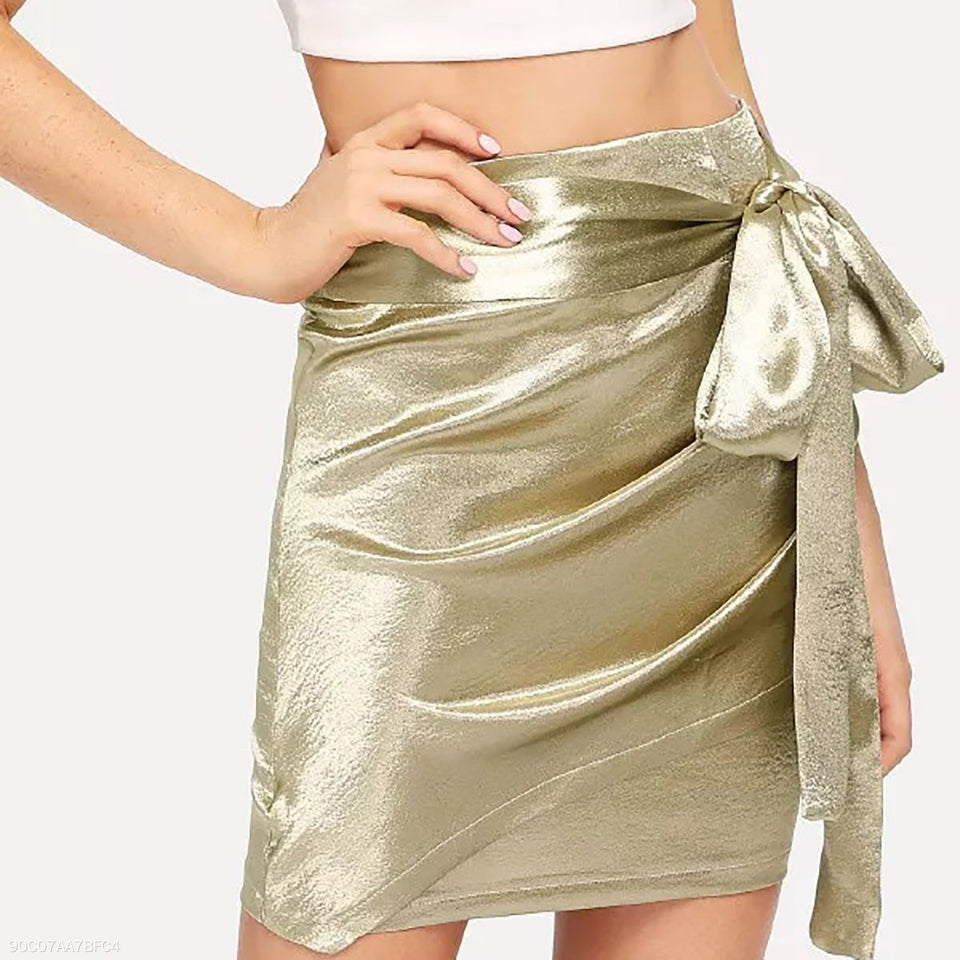 Sexy Gold Bow Tie Skirt same_as_photo m