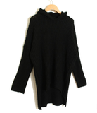 Maternity Batwing Irregular Hem Hooded Sweater