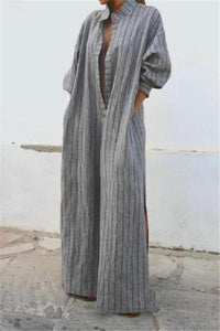 Leisure To Open A Vintage Long Casual Dress same_as_photo s