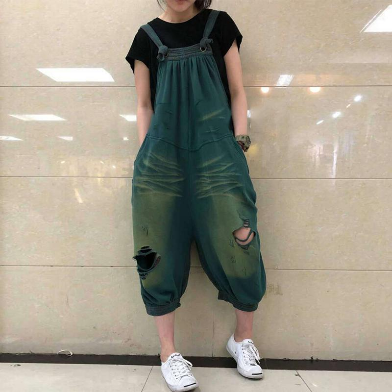 Cotton\/LINE Hollow Out  Wide Leg Jumpsuit