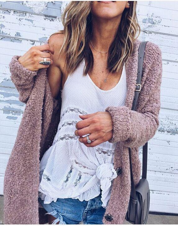 Fashion Casual Open Shirt Long-Sleeved Sweater same_as_photo l