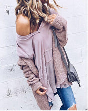 Fashion Casual Open Shirt Long-Sleeved Sweater