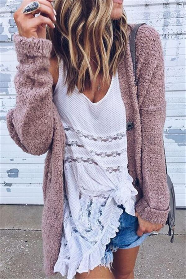 Fashion Casual Open Shirt Long-Sleeved Sweater same_as_photo s