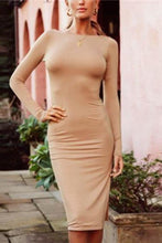 Fashion Slim Backless Bodycon Dress