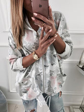 Printed Hooded Casual Jacket