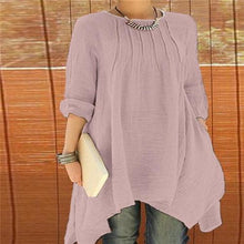 Fashion Loose Round Collar Shift Casual Dress