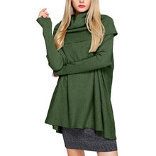 Turtle Neck Long Batwing Sleeve Fashion Sweaters