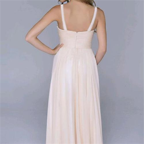 Sexy Split Joint Backless Chiffon Maxi Dress same_as_photo m