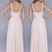 Sexy Split Joint Backless Chiffon Maxi Dress