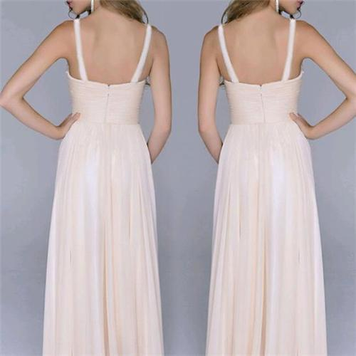 Sexy Split Joint Backless Chiffon Maxi Dress same_as_photo l