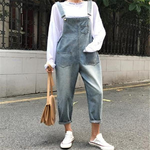 Fashion Loose Plain Cowboy Jumpsuit same_as_photo l