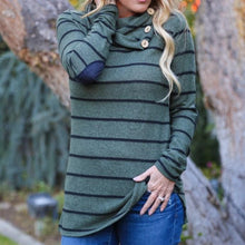 Striped Print Long-Sleeved Leisure T-Shirt