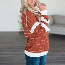 Fashion Stripe Printed Long Sleeve T-Shirt