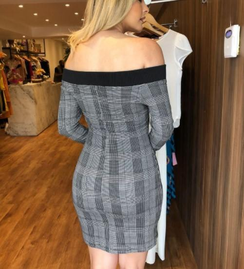 Sexy Shoulder Emblem Bodycon Dresses gray m