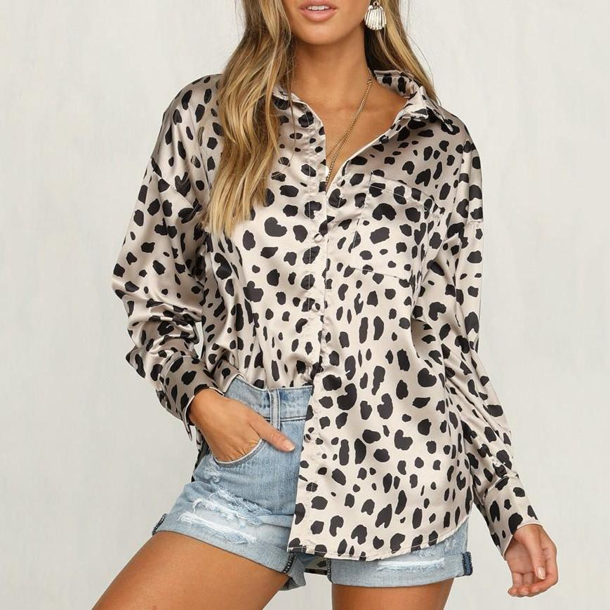 Trendy Leopard Print Long-Sleeved Shirt same_as_photo m
