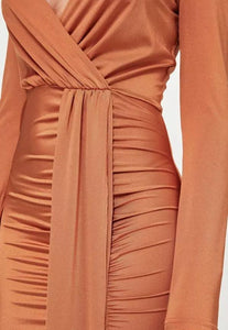 Sexy Deep V Collar Plain Slit Bmaxi Dress same_as_photo l