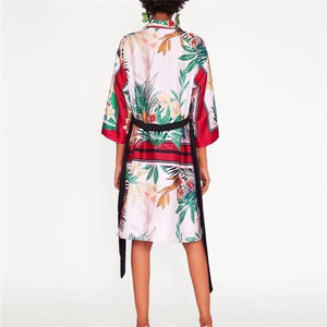 Vacation Casual Loose Floral Long Sleeve Shift Dress same_as_photo l