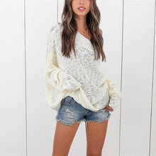 Loose Shoulder-Length Knitted Sweater
