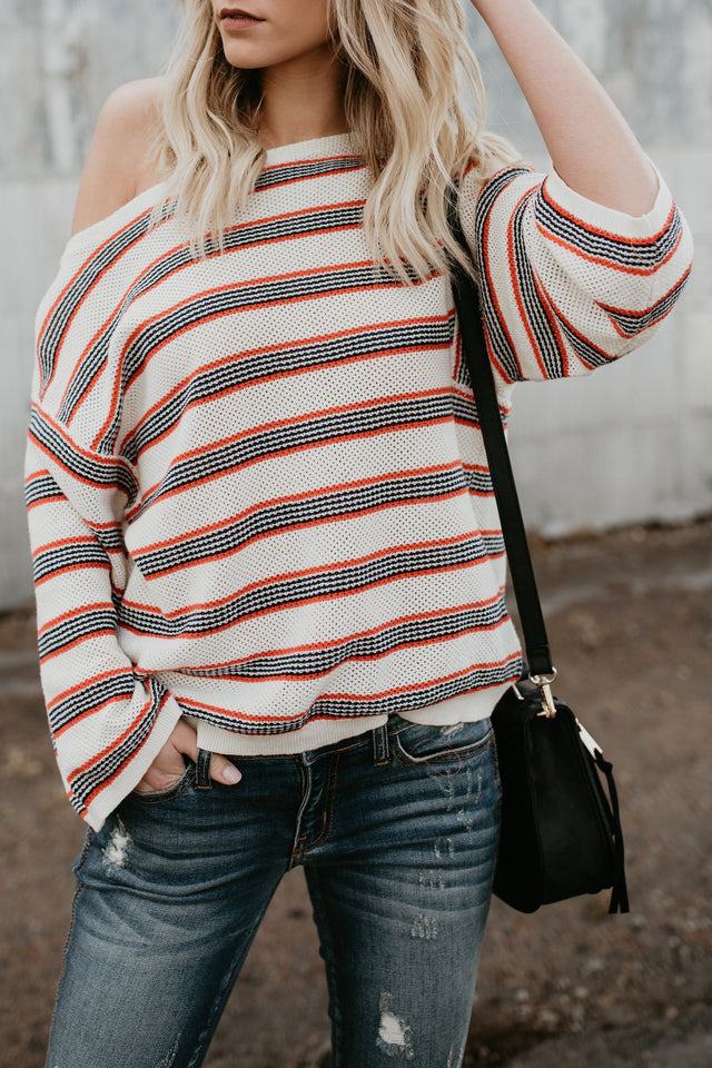 Nifty Casual Fashion Loose Strip Long Sleeve Sweater same_as_photo s