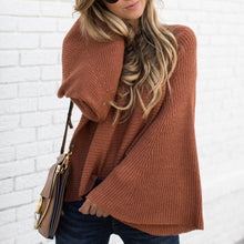 Sweet Casual Chic Loose Plain Flare Long Sleeve Sweater
