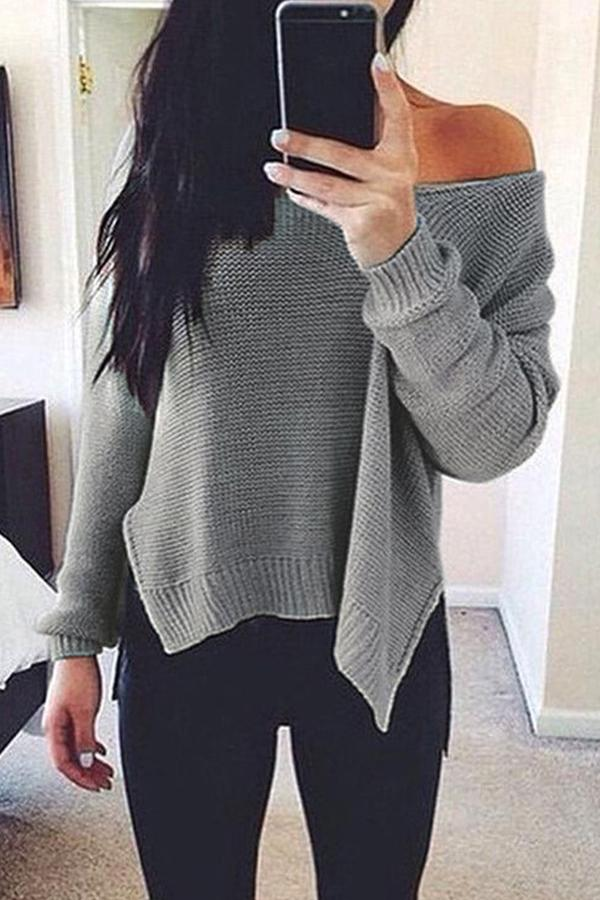 Prue Color V-Neck Halter Long Sleeve Knit Sweater black s