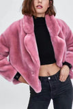 Sweet Fashion Casual Loose Thermal Long Sleeve Cardigan Pink s
