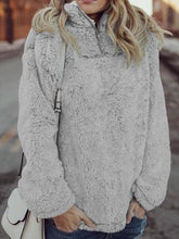 Sexy High Neck Plush Sweater